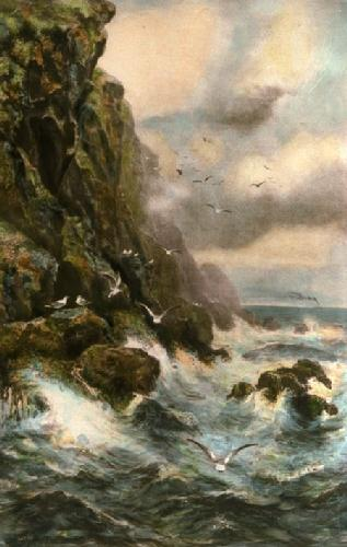 Clearing Mists (Seascape) (Restrike Etching) by Alex Mortimer
