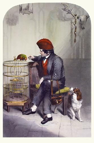 Awaiting an Answer (Restrike Etching) by Sir Edwin Henry Landseer