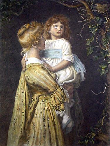 The Nest (Restrike Etching) by Sir John Everett Millais