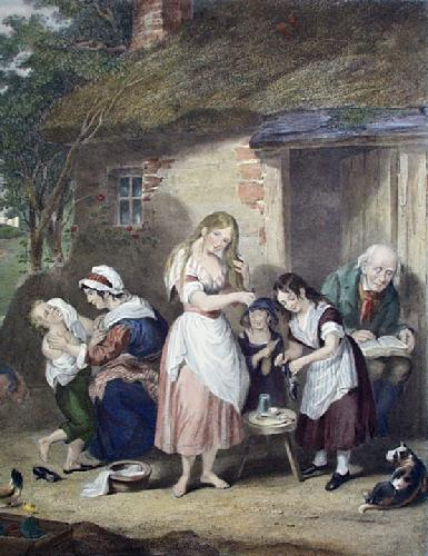 Sunday Morning (Restrike Etching) by William Brocas