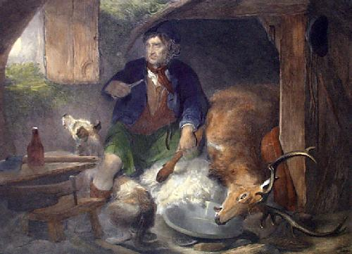 Poachers Bothy (Restrike Etching) by Sir Edwin Henry Landseer