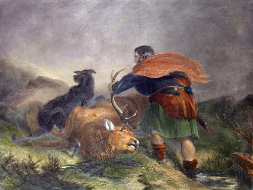 How to get Deer Home (Restrike Etching) by Sir Edwin Henry Landseer