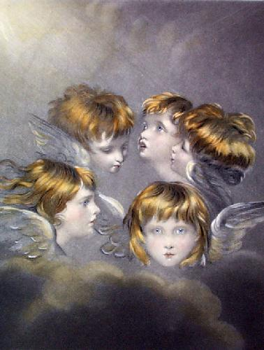 Circle of Angels (Restrike Etching) by Sir Joshua Reynolds