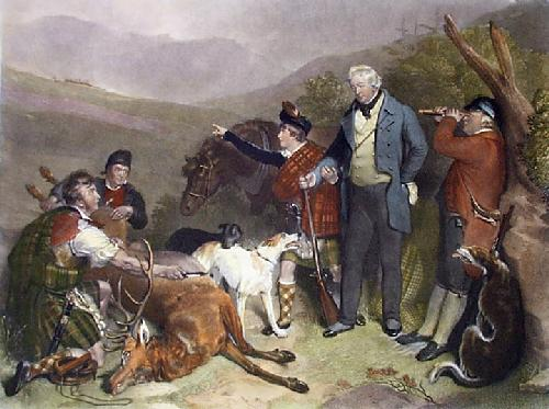 Death of Stag: Glen Tilt (Restrike Etching) by Sir Edwin Henry Landseer