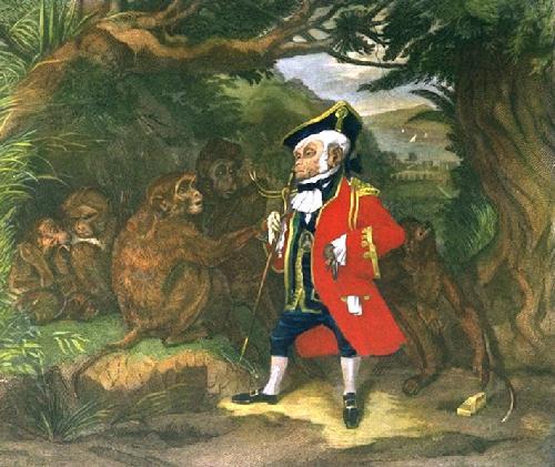 The Travelled Monkey (Restrike Etching) by Sir Edwin Henry Landseer