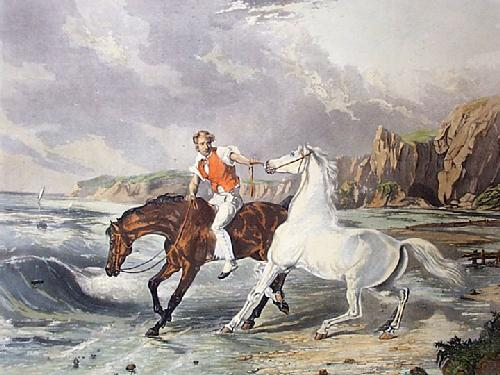 Approach to the Sea (Restrike Etching) by Samuel J. E. Jones