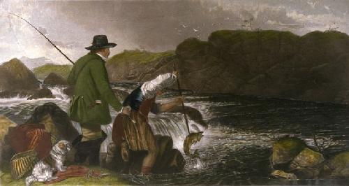 Fishing (Restrike Etching) by Richard Ansdell