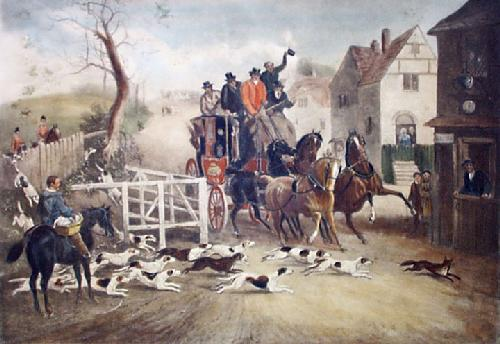 Good Run (Restrike Etching) by Henry Alken