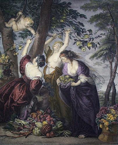 Three Graces (Restrike Etching) by Peter Paul Rubens