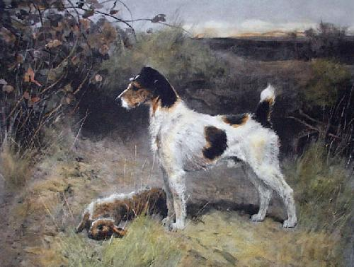 Go Bang (Restrike Etching) by Arthur Wardle