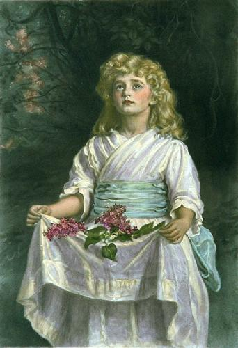 Lilacs (Restrike Etching) by Sir John Everett Millais