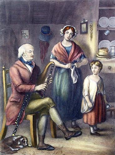 Limerick Piper (Restrike Etching) by Anonymous