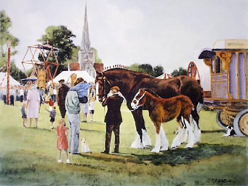 Littlewick Show, The (Restrike Etching) by Terence Gilbert