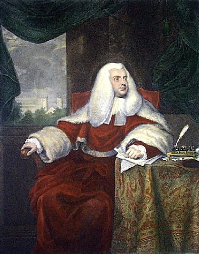 Sir Francis Buller (Restrike Etching) by Mather Brown