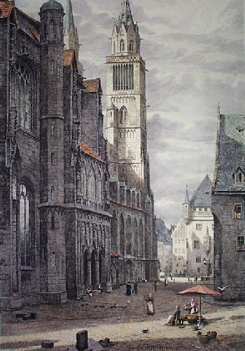 Nurnberg (Restrike Etching) by W.A. Rimington