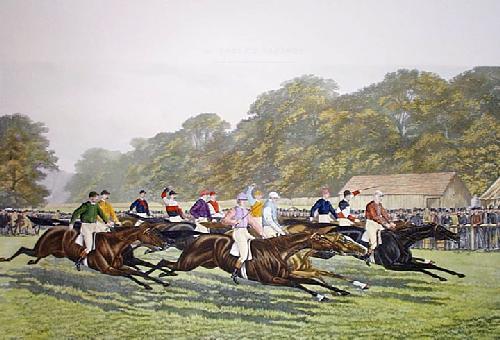 Our Gentlemen Riders (Restrike Etching) by George Veal