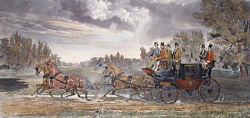 Four In Hand (Restrike Etching) by Joseph Francis Walker