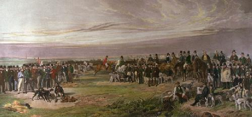 Waterloo Coursing Meeting (Restrike Etching) by Richard Ansdell