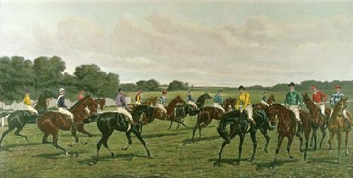 Turf Favourites (Restrike Etching) by Harrington Bird