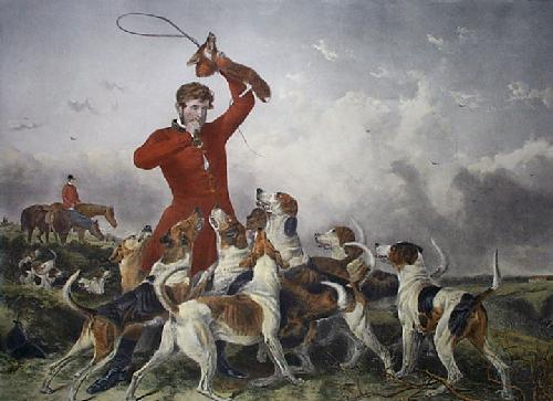 Huntsman & Hounds (Restrike Etching) by Richard Ansdell