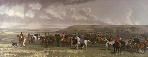 Ashdown Coursing Meeting (Restrike Etching) by Stephen Pearce
