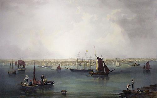 Boston (Restrike Etching) by John William Hill
