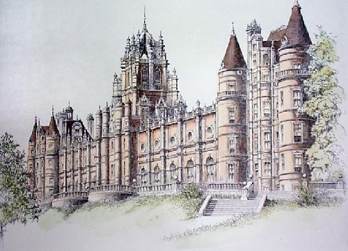 Egham, Holloway College (Restrike Etching) by Anonymous