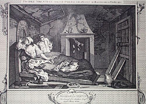 Industry, Idleness Plt7 (Restrike Etching) by William Hogarth