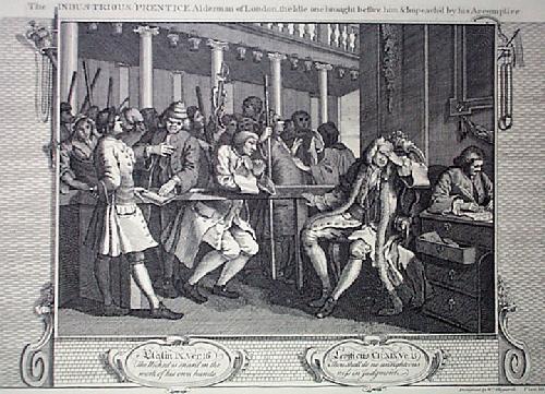 Industry, Idleness Plt10 (Restrike Etching) by William Hogarth