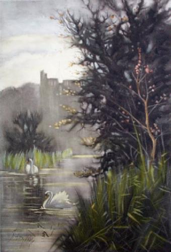 Arundel Castle (Restrike Etching) by Sidney Pike