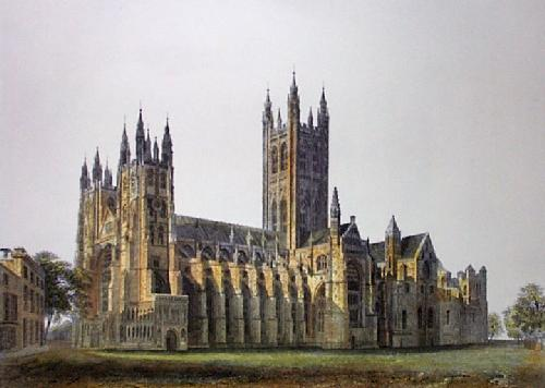 Canterbury Cathedral (Restrike Etching) by Anonymous