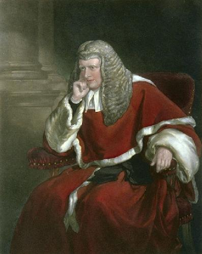 Sir W.Erle (Restrike Etching) by Sir Francis Grant