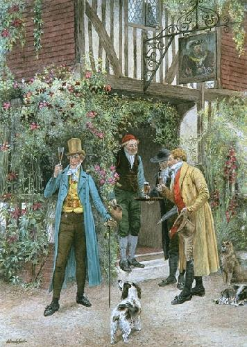 Home Brewed (Restrike Etching) by Walter Dendy Sadler