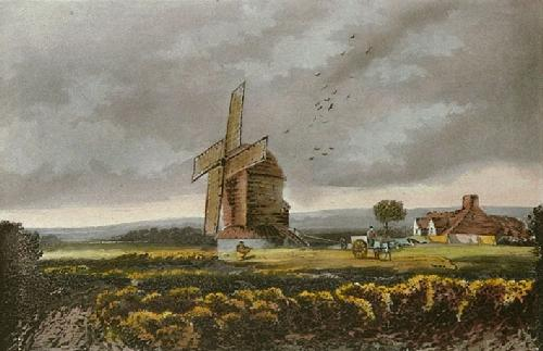A Windy Day (Restrike Etching) by David Cox