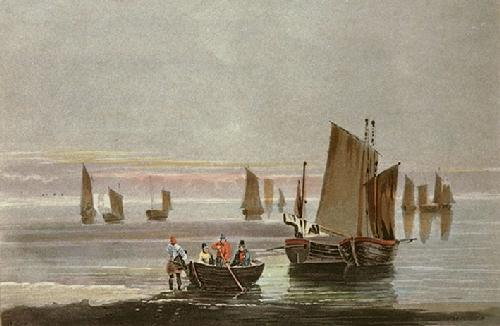 A Calm (Restrike Etching) by David Cox