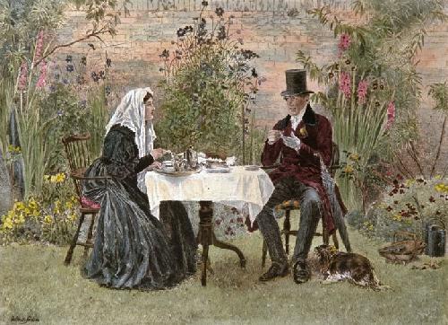 Widow at Home (Restrike Etching) by Walter Dendy Sadler