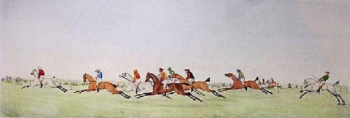 At Speed (Restrike Etching) by Anonymous