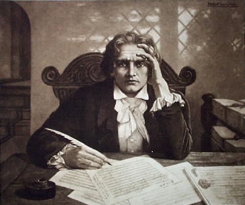 Beethoven (Restrike Etching) by Anonymous