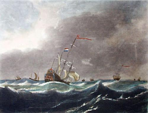 Gale A (Restrike Etching) by Willem Van de Velde