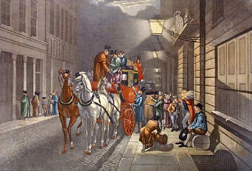 Moonlight Coachings - From P.Office (Restrike Etching) by Henry Alken