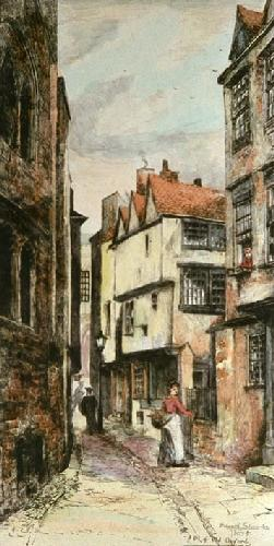 Old Oxford (Restrike Etching) by Edward Slocombe