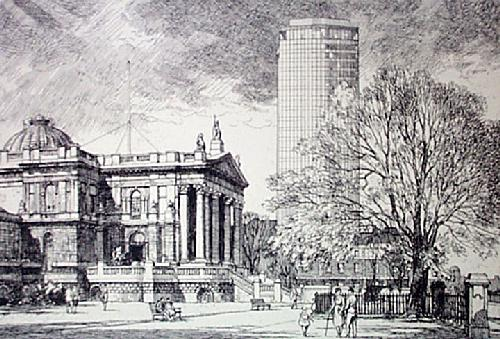 Tate Gallery (Restrike Etching) by Lawrence Josset