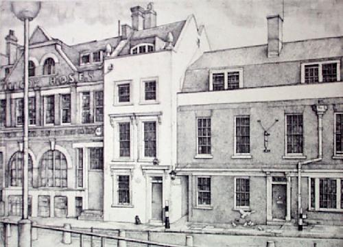 Wren's House, Cardinal Wharf (Restrike Etching) by Lawrence Josset