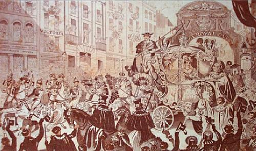 Lord Mayors Show (Restrike Etching) by Anonymous