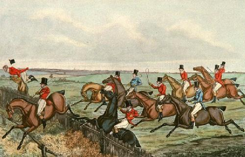Slap Fence (Restrike Etching) by Henry Alken