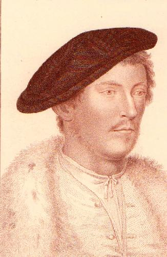 Holbien Heads - Plate 1V (Restrike Etching) by Hans Holbein The Younger