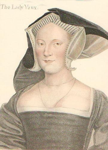 Lady Vaux (Restrike Etching) by Hans Holbein The Younger