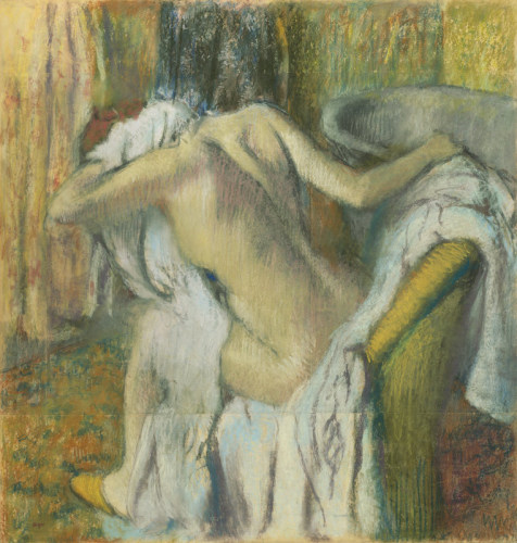 After The Bath, 1917 by Edgar Degas