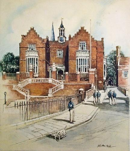 Harrow School (Restrike Etching) by Adrian Hill