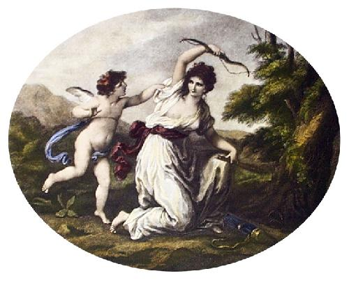Cupid Disarmed (Restrike Etching) by Angelica Kauffmann